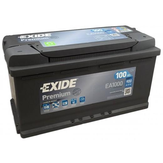 ΜΠΑΤΑΡΙΑ 12V 100AH EXIDE EA1000 Premium, Carbon Boost Techonlogy, ΕΥΡΩΠΑΙΚΟΥ ΤΥΠΟΥ - ΑΥΤΟΚΙΝΗΤΟΥ