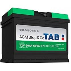 ΜΠΑΤΑΡΙΑ TAB AG60 AGM STOP&GO 12V 60AH ΕΥΡΩΠΑΙΚΟΥ ΤΥΠΟΥ