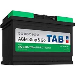 ΜΠΑΤΑΡΙΑ TAB AG70 AGM STOP&GO 12V 70AH ΕΥΡΩΠΑΙΚΟΥ ΤΥΠΟΥ